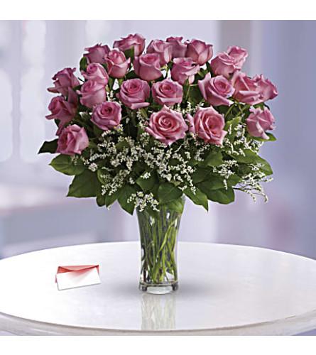 Make Me Blush - One Dozen Long Stemmed Pink Roses