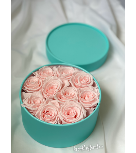 Pink Champagne Preserved Roses