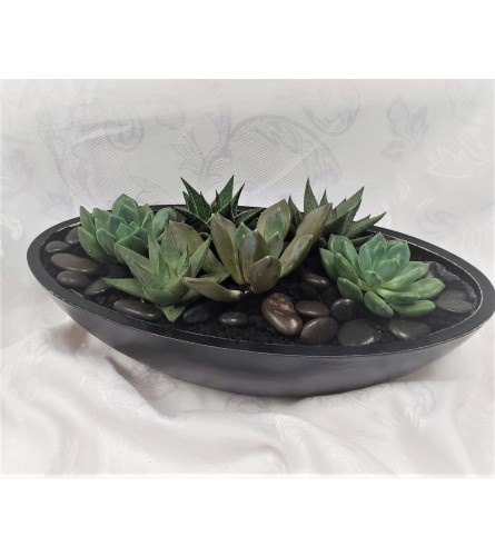 Succulent Zen Boat planter