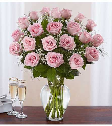 Dozen Perfectly Pink Roses