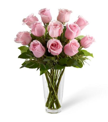 Classic Pink Roses in a vase