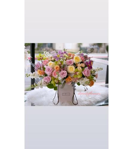 Flowers box with designer choice PREMIUM