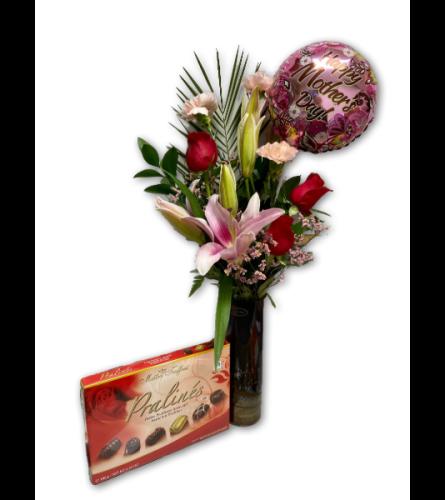 'For Mom' Arrangement in Premium Polish Vase