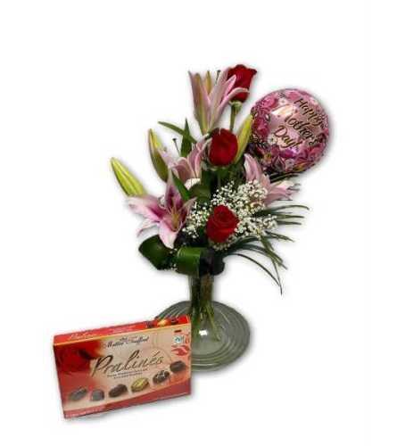 Pretty Pink Lilies in Premium Polish Vase