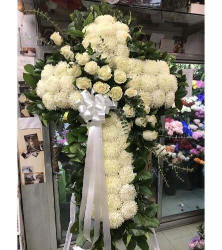 Elegant Standing Cross White