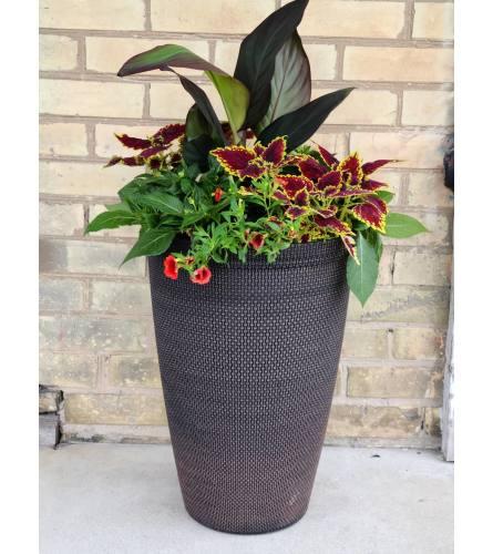 Sleek Brown Patio Planter