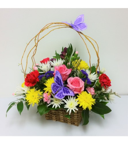 Blooming Butterfly Basket