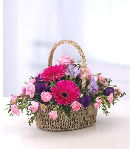 Bricks Basket of flowers