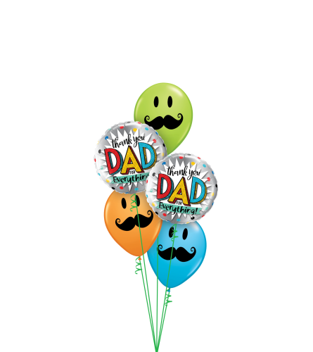 Big Thanks To Dad Classic Balloon Bouquet