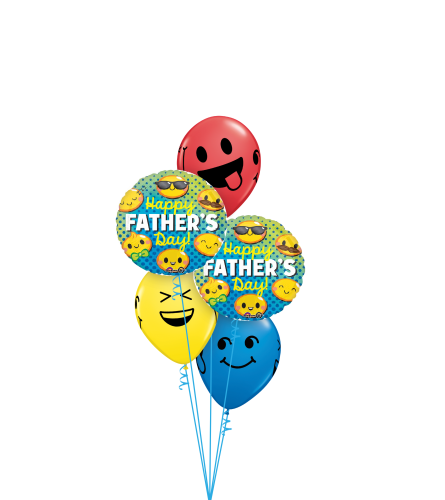 Father's Day Emoticons Classic Balloon Bouquet