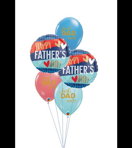 Happy Father's Day Dad Classic Confetti Balloon Bouquet