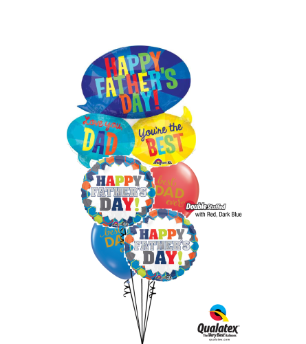 Dad, You're The Best Cheerful Balloon Bouquet