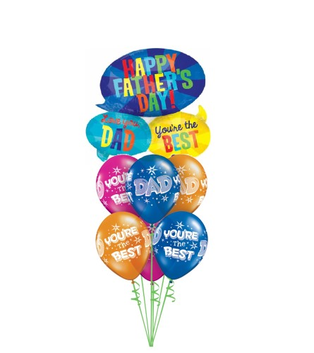 Dad's Special Day Awesome Balloon Bouquet
