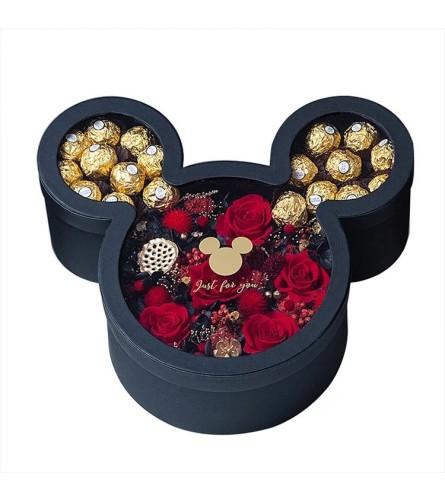 Mousehead Silhoute Rose Box