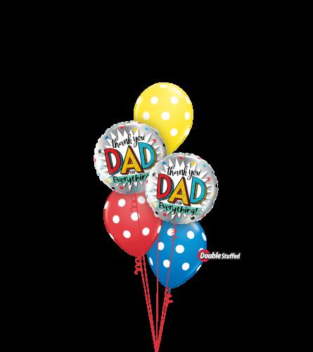 Thanks Dad Classic Confetti Balloon Bouquet
