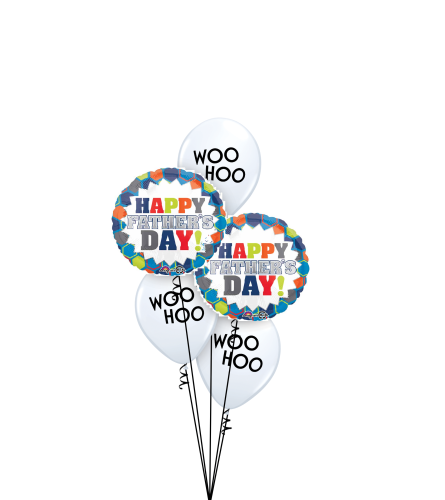 Woo Hoo It's Father's Day! Classic Balloon Bouquet
