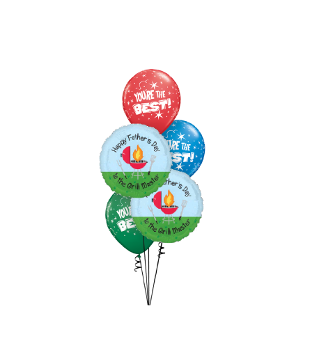 To The Grill Master Classic Balloon Bouquet