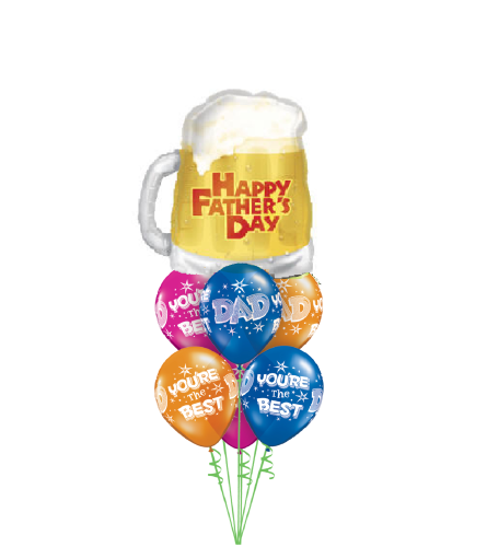 Happy Father's Day Beer Awesome Balloon Bouquet