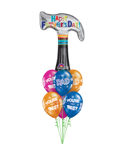 Father's Day Hammer Awesome Balloon Bouquet