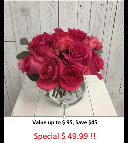 Summer Rose Garden Bouquet
