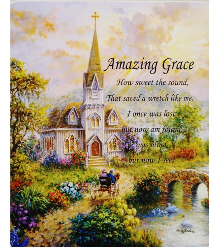 Amazing Grace Verse Tapestry Throw