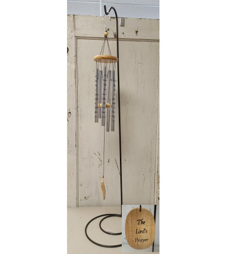 """Lord's Prayer 40"""" Windchime With Stand"""