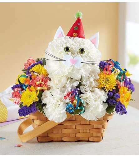 PURRFECT PARTY CAT BASKET