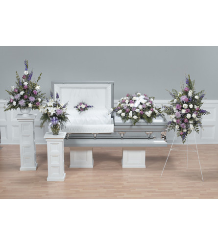 Gentle Remembrance Funeral Package Including Casket Spray