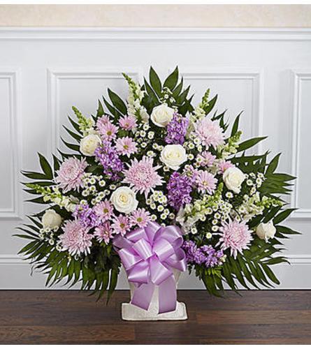 Lavender & White Floor Basket