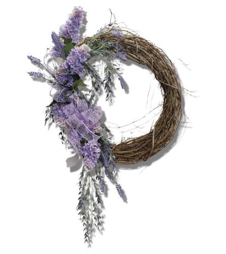 Lilac Love Silk Grapevine Wreath