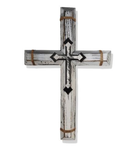 White Handmade Wooden Cross