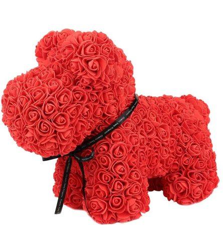 RED ROSE FOAM DOG TEDDY