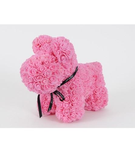 PINK ROSE FOAM DOG TEDDY