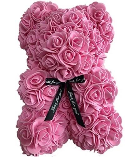 SMALL PINK ROSE FOAM BEAR