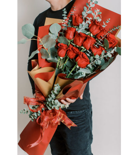 Dozen Roses with Luxe Wrapping