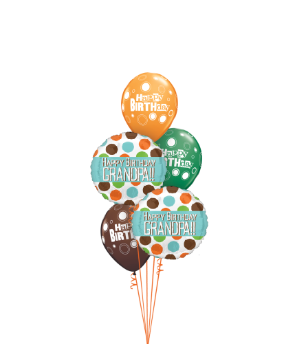 Happy Birthday Grandpa Classic Balloon Bouquet