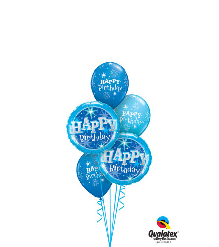 It's A Blue Birthday Classic Balloon Bouquet
