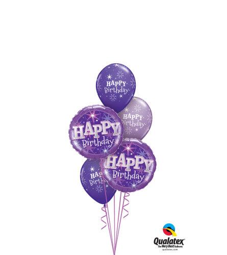 It's A Purple Birthday Classic Balloon Bouquet