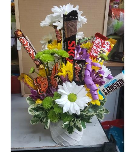 Chocolates and daisies