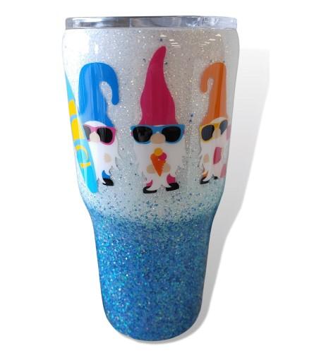 Inspired By Glitter Summer Gnome Tumbler
