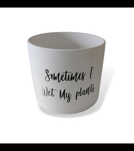 Sometimes I Wet My Plants Pot