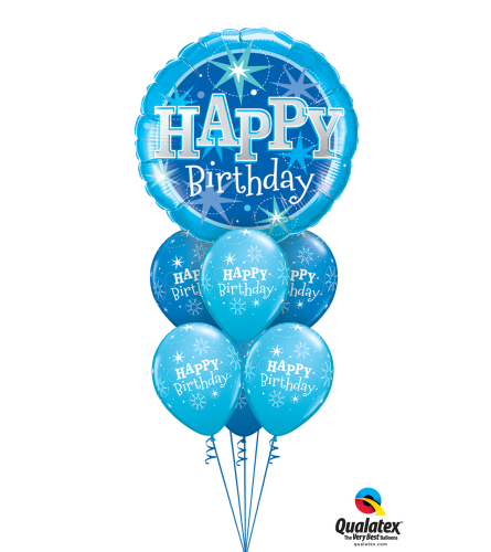 Have a Blue Birthday Awesome Balloon Bouquet
