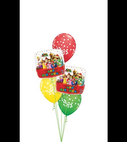 Super Mario Bros Birthday Classic Balloon Bouquet