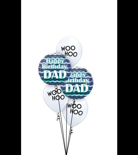 Happy Birthday Dad Classic Balloon Bouquet