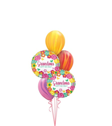 Happy Birthday Grandma Classic Balloon Bouquet
