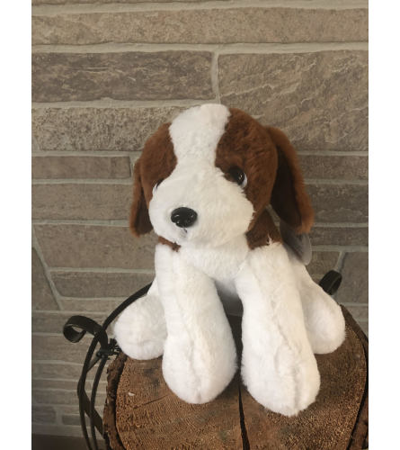 Plush Sitting Beagle