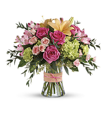 TF Blush Life Vase Arrangement