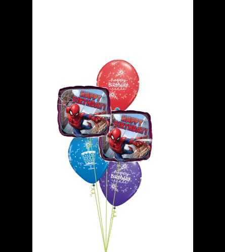 Spiderman Birthday Classic Balloon Bouquet