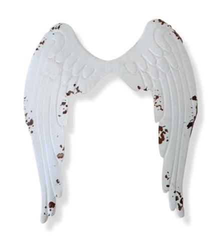 Distressed Metal Angel Wing