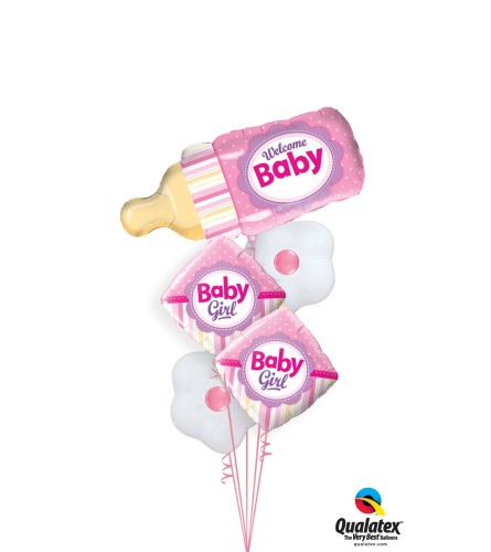 Baby Bottle Pink Colossal Balloon Bouquet